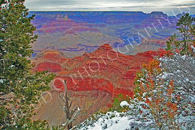SCGNP 00027 The Grand Canyon under a heavy overcast winter sky, by Peter J Mancus