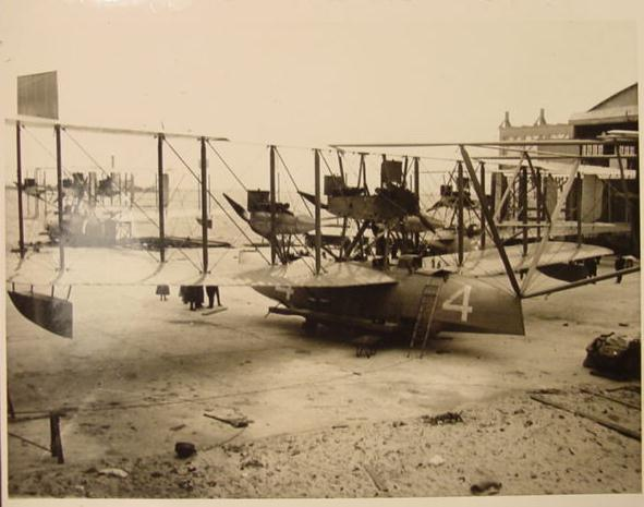 The NC-4 (Navy Curtiss) flying boat, the first plane in history to complete a transatlantic crossing.