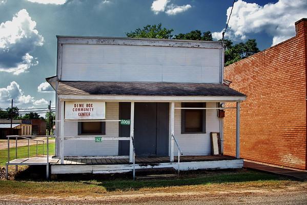 Dime Box Community Center, Dime Box, Texas. June 2015.