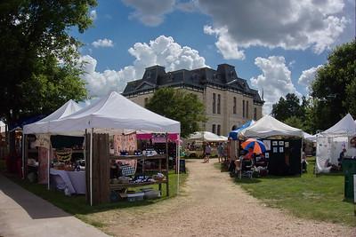 Blanco Lavender Festival around Courthouse, Blanco, Texas. June 2015.