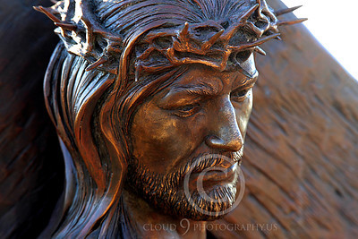 SpMis 00206 Anguish--Jesus in an uneveniable predicament, statuary at Mission San Louis Rey, by Peter J Mancus