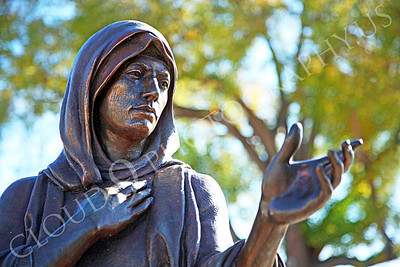 SpMis 00210 Mary, Jesus' mother, reaches out for her son's hand, statuary at Mission San Louis Rey, by Peter J Mancus