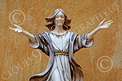 SMRSTY 00004 A young, open hands, Jesus Christ, at Mission Carmel, by Peter J Mancus