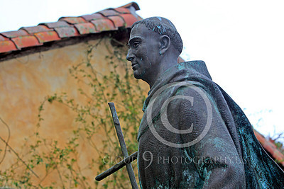 SMRSTY 00024 Spanish Franciscan friar Junipero Serra, at Mission Carmel, by Peter J Mancus