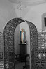 The entrance to the Adoration chapel at San Jose Mission in San Antonio. The Tabernacle has been moved from the main church and placed in this side chapel.