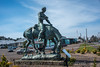 Oregon<br /> Lincoln City<br /> Abraham Lincoln reading on a horse