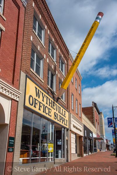 Virginia<br /> Wytheville<br /> Large pencil