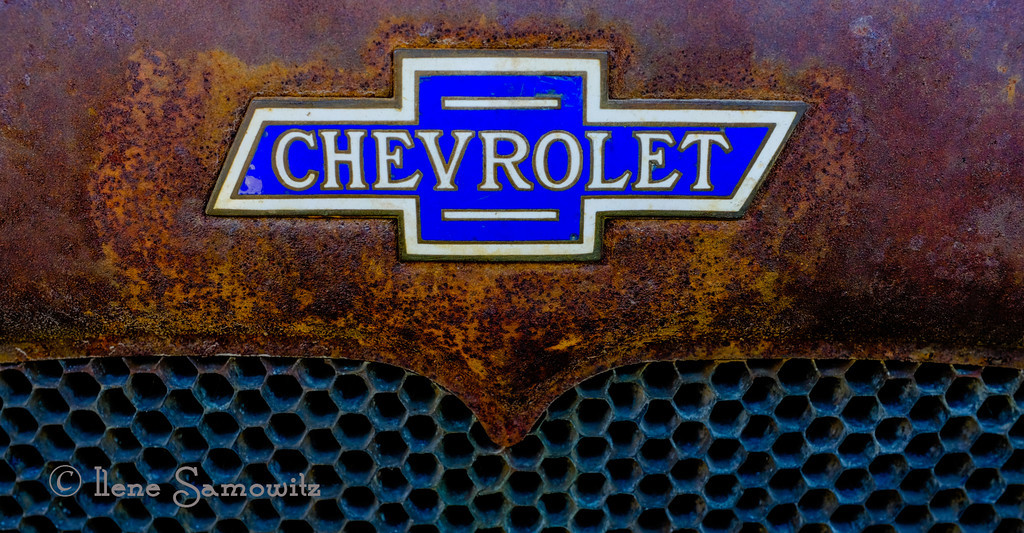 9-20-13 An old car rusted.  I liked the colors and the patterns on this old Chevy.