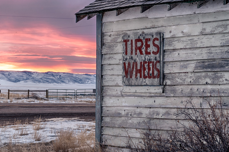 Tires and Wheels, Bosler, Albany County, WY  2010<br /> © Edward D Sherline