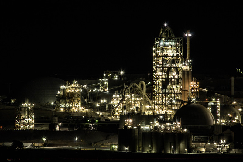 Cement Plant at Night 1