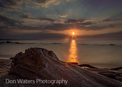 Rocky River sunset