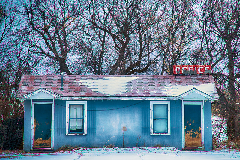Blue Office, Lusk, Niobrara County, WY 2015<br /> HDR image<br /> © Edward D Sherline