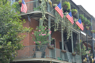 Flags in the Vieux Carre