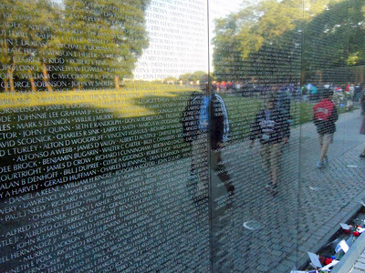 At The Vietnam Veterans Wall