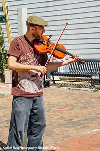 Street performer, violinist, Annapolis, Maryland