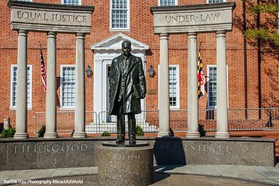Thurgood Marshall Memorial, Lawyer Mall, Annapolis, Maryland
