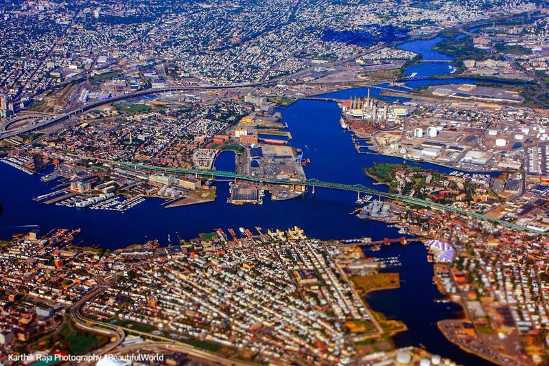 Boston skyline, Charles River, Massachusetts
