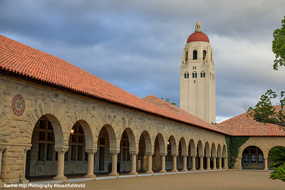 Main Quad, Hoover Tower, Stanford Campus, University, Palo Alto, California