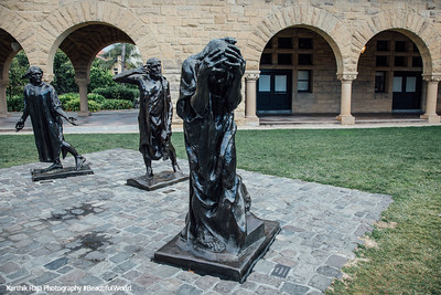 Memorial Court, Burghess of Calais, Rodin, Stanford Campus, University, Palo Alto, California