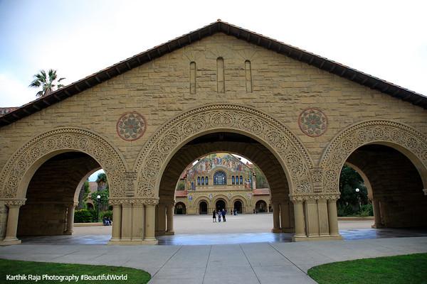 Main Quad, Stanford Campus, University, Palo Alto, California