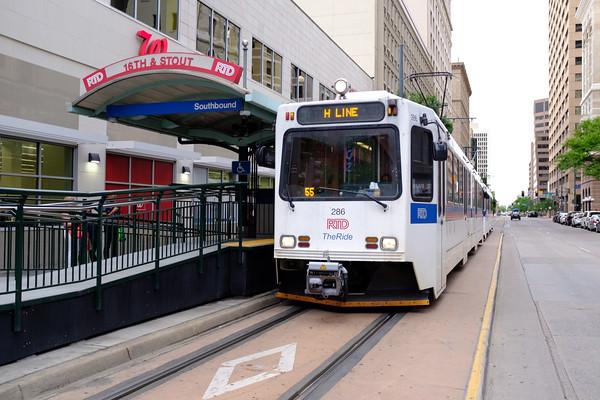 Tram Line, 16th Street Mall, Denver, Colorado