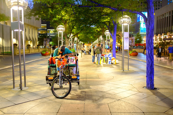 Cycle Rickshaw ride, 16th Street Mall, Denver, Colorado