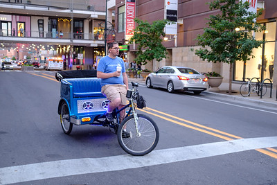 Cycle Rickshaw Ride, 16th Street Mall, Denver, Colorado