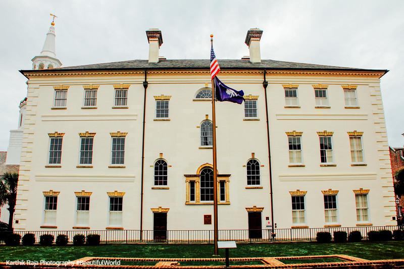 Charleston County Court House, c.1792, 84 Broad Street, Charleston, South Carolina