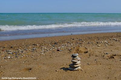 7 stones, Glencoe Beach, Lake Michigan
