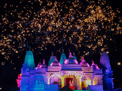 Diwali celbration in BAPS temple, Bartlet, Illinois