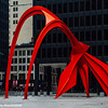 Flamingo, Alexander Calder sculpture, Chicago, Illinois