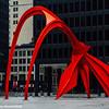 Flamingo, Alexander Calder sculpture, Chicago, Illinois