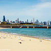 Chicago skyline from 31st Street Beach