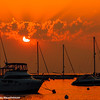 Sunrise, Boats, Lake Michigan, Chicago