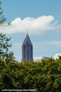 AT&T Plaza from Martin Luther King Jr. National Park, Atlanta, Georgia
