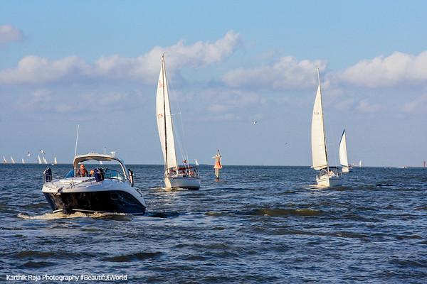 Sailboats, Kemah Boardwalk, Gulf of Mexico, Texas