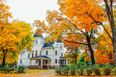 Fall Colors, Palatine, Historic House, Illinois