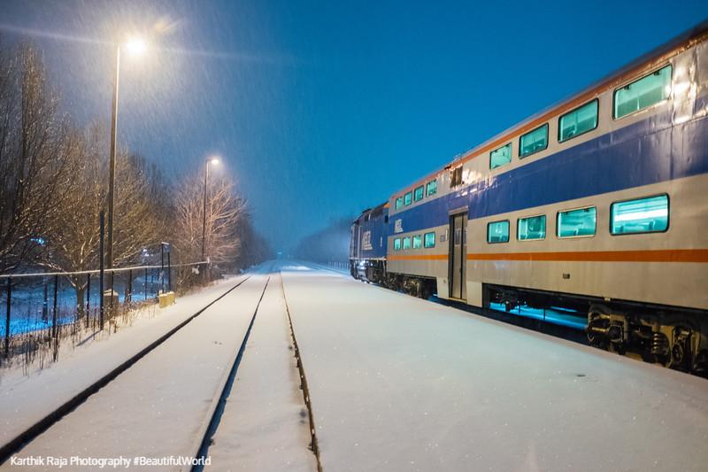 Palatine Snow Storm 2018 Metra