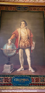 Christopher Columbus Murals, Golden Dome, Notre Dame University, South Bend, Indiana