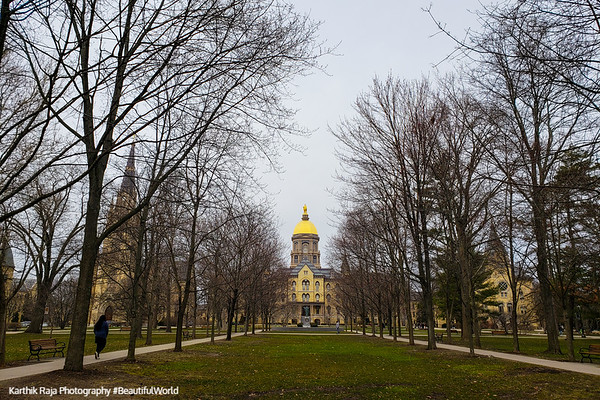 Golden Dome, Notre Dame University, South Bend, Indiana