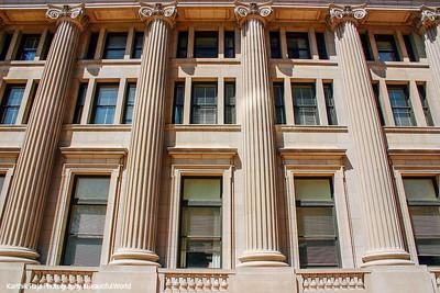 Windows of the courthouse, Indianapolis, Indiana