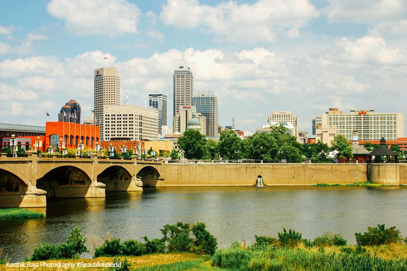White River, Indianapolis skyline, Indiana