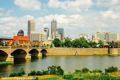 White River, Indianapolis skyline, Indiana