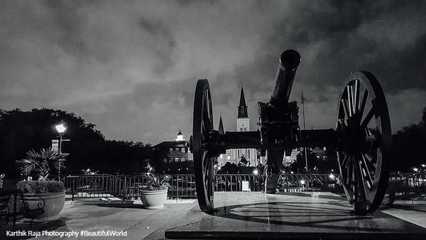 War and Peace, Cannon, Washington Artillery Park, Jackson Quarter, New Orleans, Louisiana