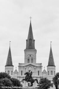 Saint Louis Catholic Cathedral, Clark Mills' equestrian statue of Andrew Jackson, New Orleans, Louisiana