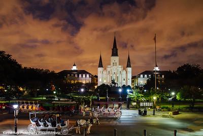 Saint Louis Catholic Cathedral, Jackson Square, Horse Carriage, New Orleans, Louisiana