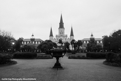Jackson Square, French Quarter, St. Louis Catholic Cathedral, New Orleans, Louisiana