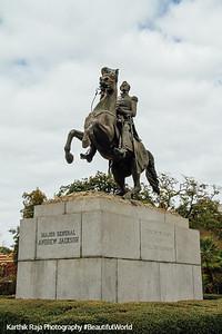 Clark Mills' equestrian statue of Andrew Jackson, New Orleans, Louisiana