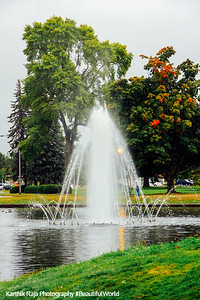 Fountain in the park, Portland, Maine