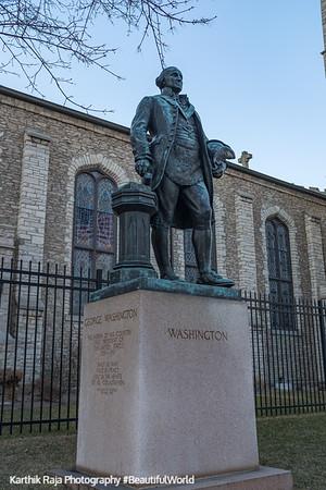 George Washington statue, Detroit, Michigan